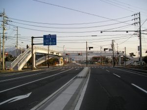 長野県長野市 青木島歩道橋