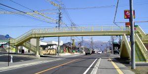 長野県上田市 川辺歩道橋