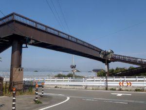 長野県小布施町 山王島歩道橋
