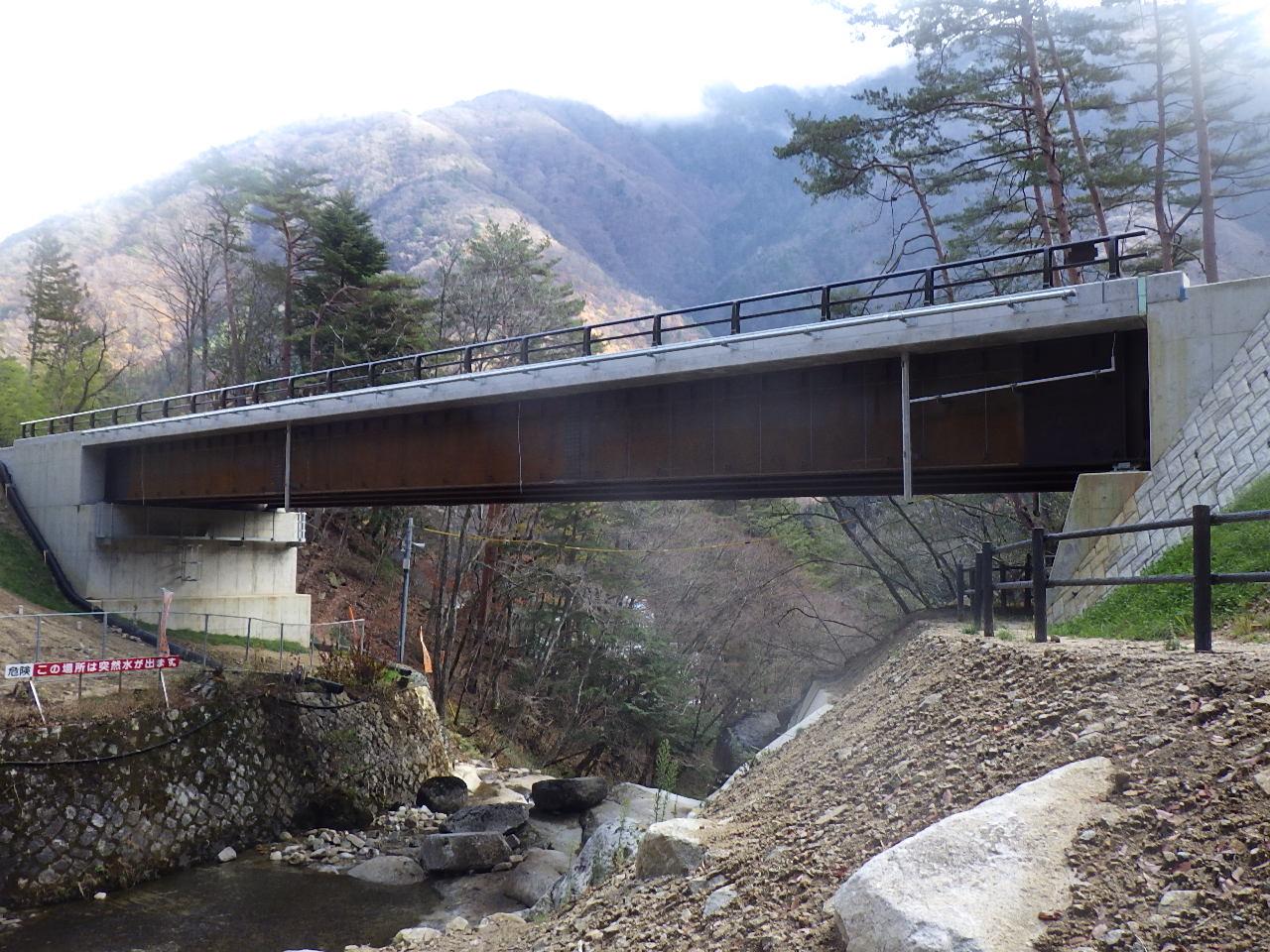 長野県上松町~大桑村 境の沢橋